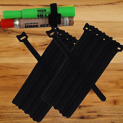 20pc 820cm Nylon Cable Ties Wire Strap Bundling Wrap Fastening Organizer Black