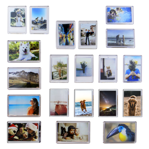 Pack of 20 Mini Photo Frame Magnets | Fridge Magnet Photo Ho