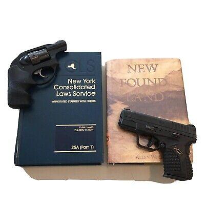 Set Of 2 Law books NY Hide a gun Safe Pistol  Concealed carry gun vault