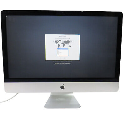 "Apple A1419 iMac 27"" Late-2012 Core i5-3470S @2.90GHz 24GB 1TB OS Catalina -Chip"