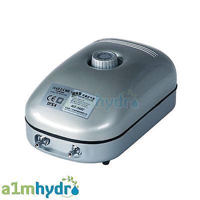 Hailea Air Pump Aco9602 Super Silent Adjustable Twin 2 Outlet Hydroponics
