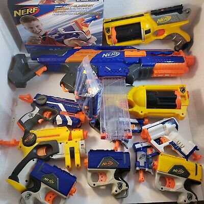 Lot Of 11 Nerf Guns With Darts !