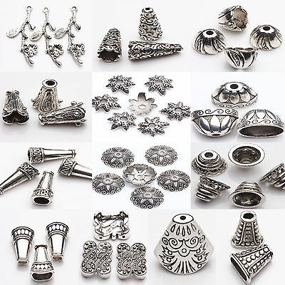 Lot 5 10Pcs Tibetan Silver Different Patterns Spacer Bead Caps Jewelry Finding
