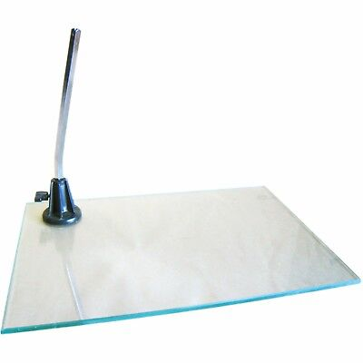 MA-026 Rectangular Tempered Glass Base for Mannequin with 0.4'' D Calf Rod