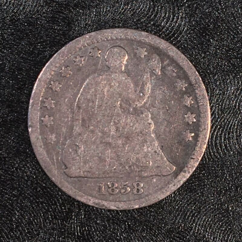 1858-O Seated Half Dime - Major Reverse CUD - High Quality Scans #D535