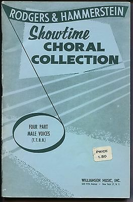 Vocal Music Book, RODGERS & HAMMERSTEIN SHOWTIME CHORAL COLLECTION, 4-part male
