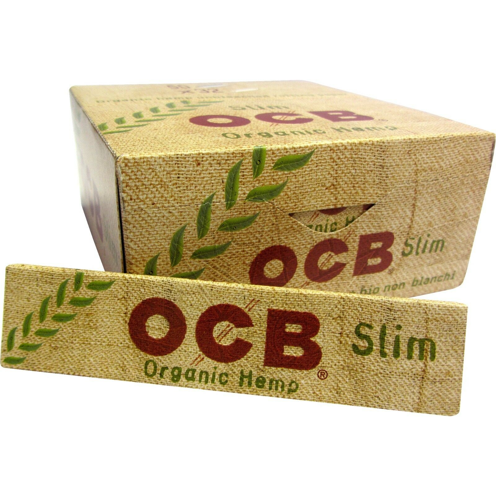 OCB Organic Hemp Slim Papers Blättchen Longpapes 50 x 32 ---Hier das Original---
