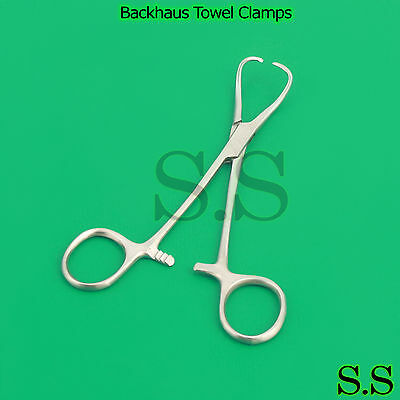 6 Backhaus Towel Clamp 3.50 Economy Grade Surgical Veterinary Instruments