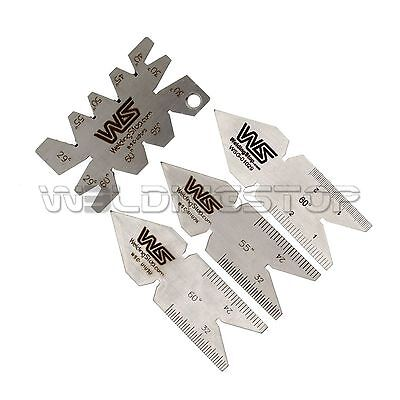 Lathe Machine Cnc Cutting Angle Gauge Center Gage 4pcs Thread Gauge Set