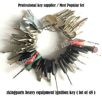New 48 Keys Heavy Equipment Construction Ignition Key Set Starter Key Set