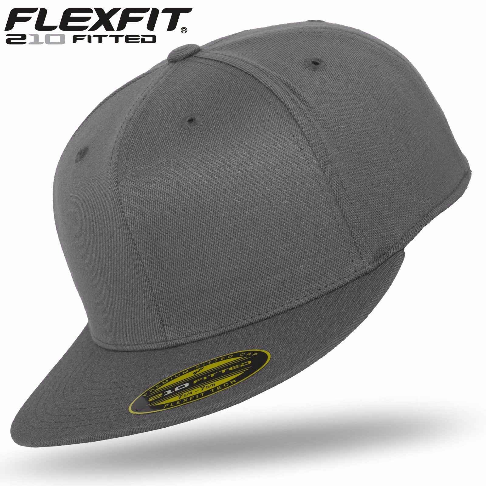black Original FLEXFIT® 210 Premium Fitted Basecap Baseball Cap Kappe black