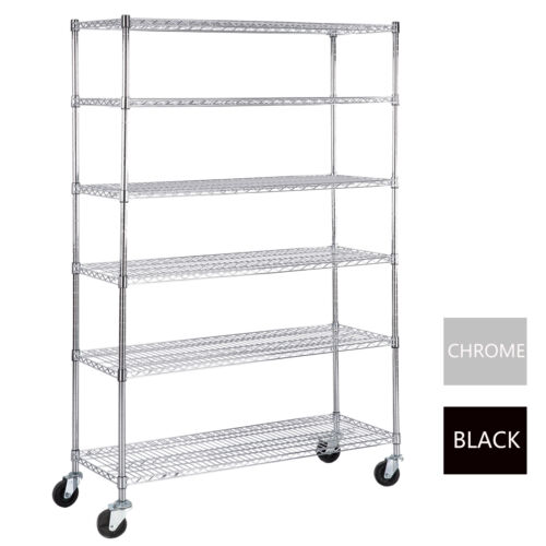 Купить Uenjoy - 6 Tier Adjustable Wire Shelving Rack 82x48x18 Heavy Duty Layer Steel Shelf
