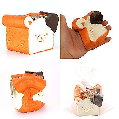 11cm Jumbo Rilakkuma Squishy Cellphone Strap Bread Scent Toast Slow Rising US