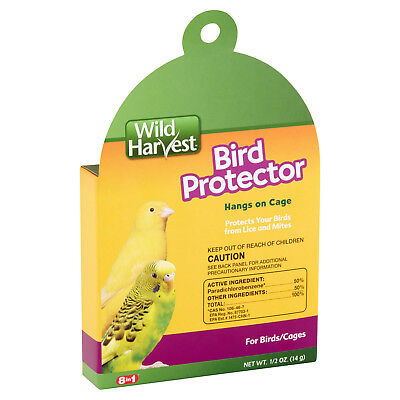Wild Harvest 8-in-1 BIRD PROTECTOR PROTECT YOUR BIRDS / CAGES from LICE & MITES