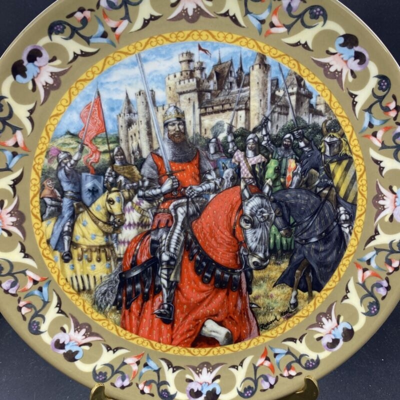 Wedgwood 1986 Legend of King Arthur KNIGHTS OF THE ROUND TABLE  Ltd Ed Plate