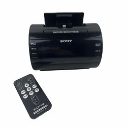 Sony AM/FM Clock Radio Iphone Ipod Dock Alarm ICF-C11iP Black Excellent
