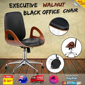 Executive Walnut Home Office Chair & Executive Walnut Office Chair Black | Office Chairs | Gumtree ...