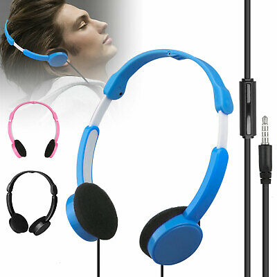 Foldable Over Wired Ear Headphones Headband Kids Earphone w/
