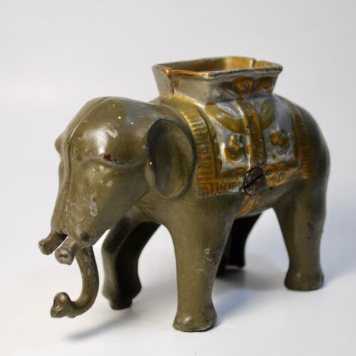 Antique/Vintage A.C Williams Cast Iron Bank Elephant Semi-Mechanical Early1900