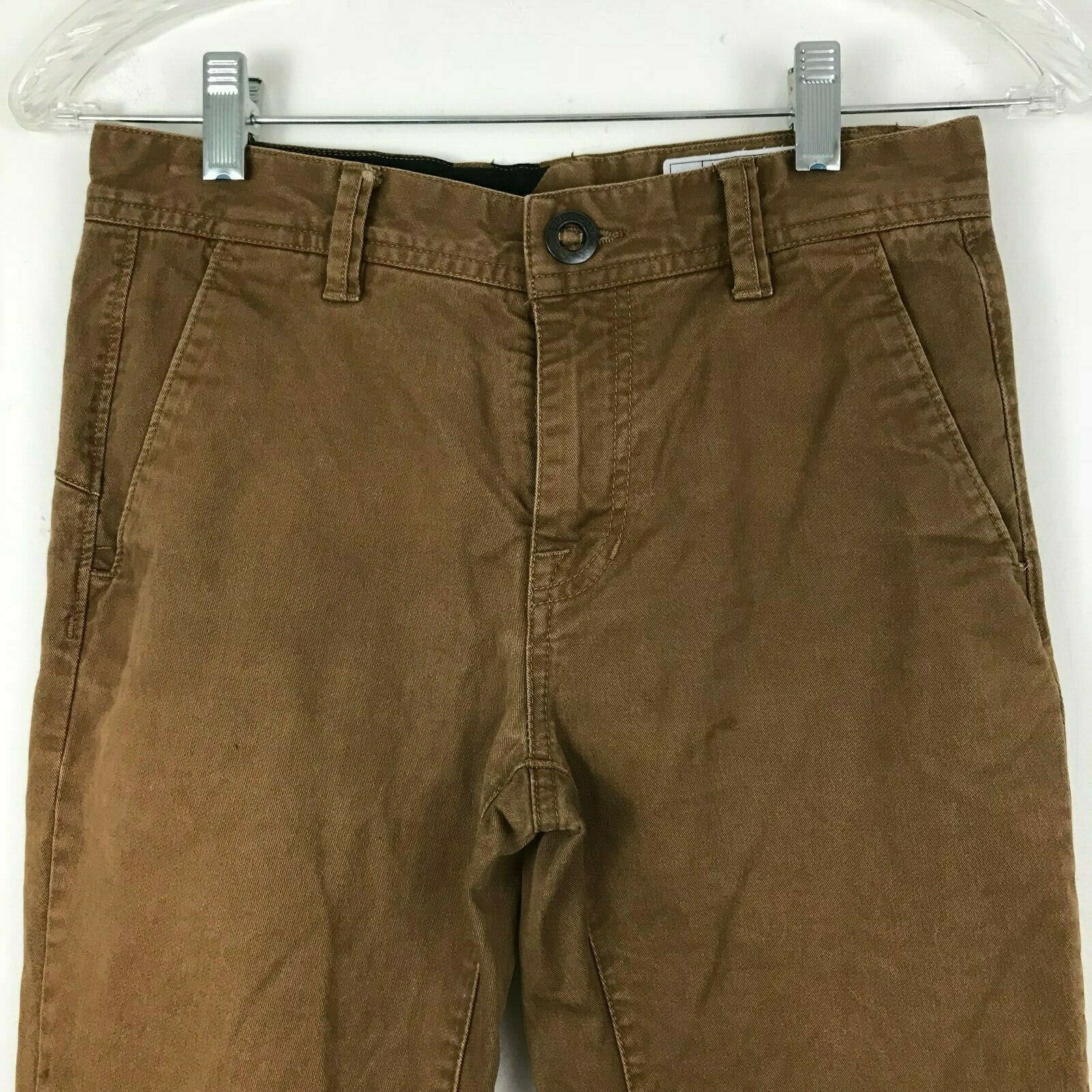 Volcom boys slim fit chino size 26 distressed