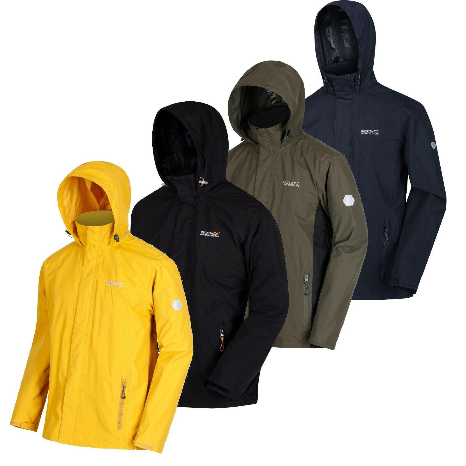 Regatta Mens Jacket Waterproof Hydrafort 5000 Coat Shell Hooded XS–3XL Free PnP