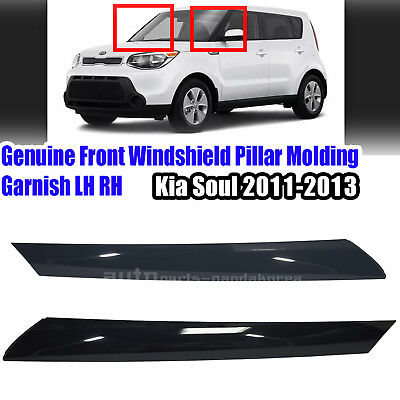 Genuine Front Windshield Pillar Molding Garnish For LH RH 2EA KIA SOUL 2012-2013