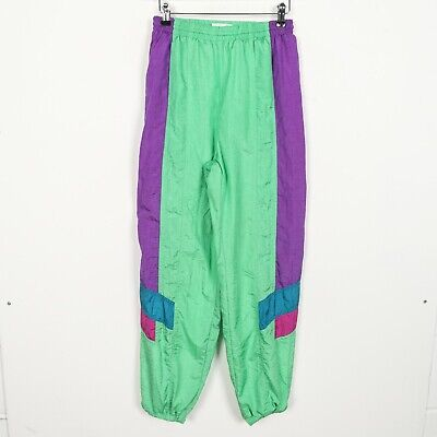 Vintage 90s KAPPA Small Logo Soft Shell Windbreaker Jacket Green Purple | Small