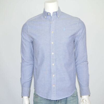 JOHNNIE-O Oxford Stretch Cotton Blue Hangin Out Long Sleeve Casual Shirt Sz S