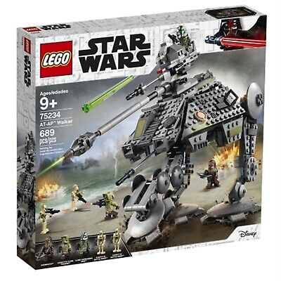 LEGO 75234 Star Wars AT-AP Walker Construction Set with Chewbacca, Clone Commander Gree, Kashyyyk Clone Trooper and 2 Battle Droid Minifigures, The Clone Wars Collection