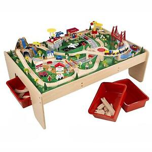 Thomas The Train Wooden Table  sc 1 st  eBay : thomas the train table set up - pezcame.com