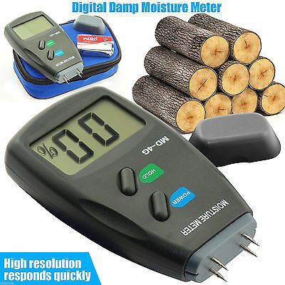 Digital Moisture Meter 4-Pin PRO Damp Detector Timber Wood Tester Plaster Sensor