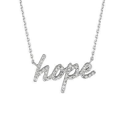 Hope Diamond Necklace - 0.26 CT Diamond hope necklace Set In 14K White Gold IDJN5138WD