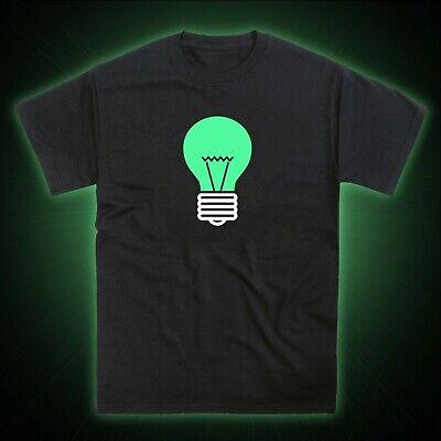 Light Bulb Lightbulb Glow in the Dark T-Shirt](Glow In The Dark Light Bulb)