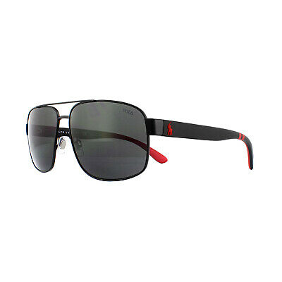 Polo Ralph Lauren Sunglasses 3112 903887 Matte Black Grey