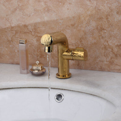 Bathroom Gold Finish Faucet Deck Mounted Single Lever Best Basin Mixer