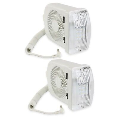 2 NEW RV LED 12v Fan LIGHT FOR CAMPER TRAILER RV MARINE ()