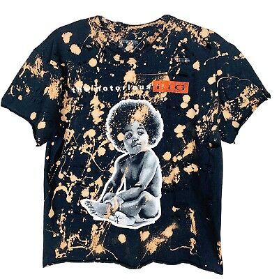 Notorious BIG BIGGIE Women's Distressed Graphic Tee T-Shirt, Baby Big, XL Distressed Baby Tee