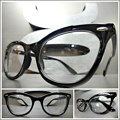VINTAGE RETRO 60s CAT EYE CLEAR LENS EYE GLASSES NON PRESCRIPTION FASHION (Retro Cat Eye Prescription Glasses)