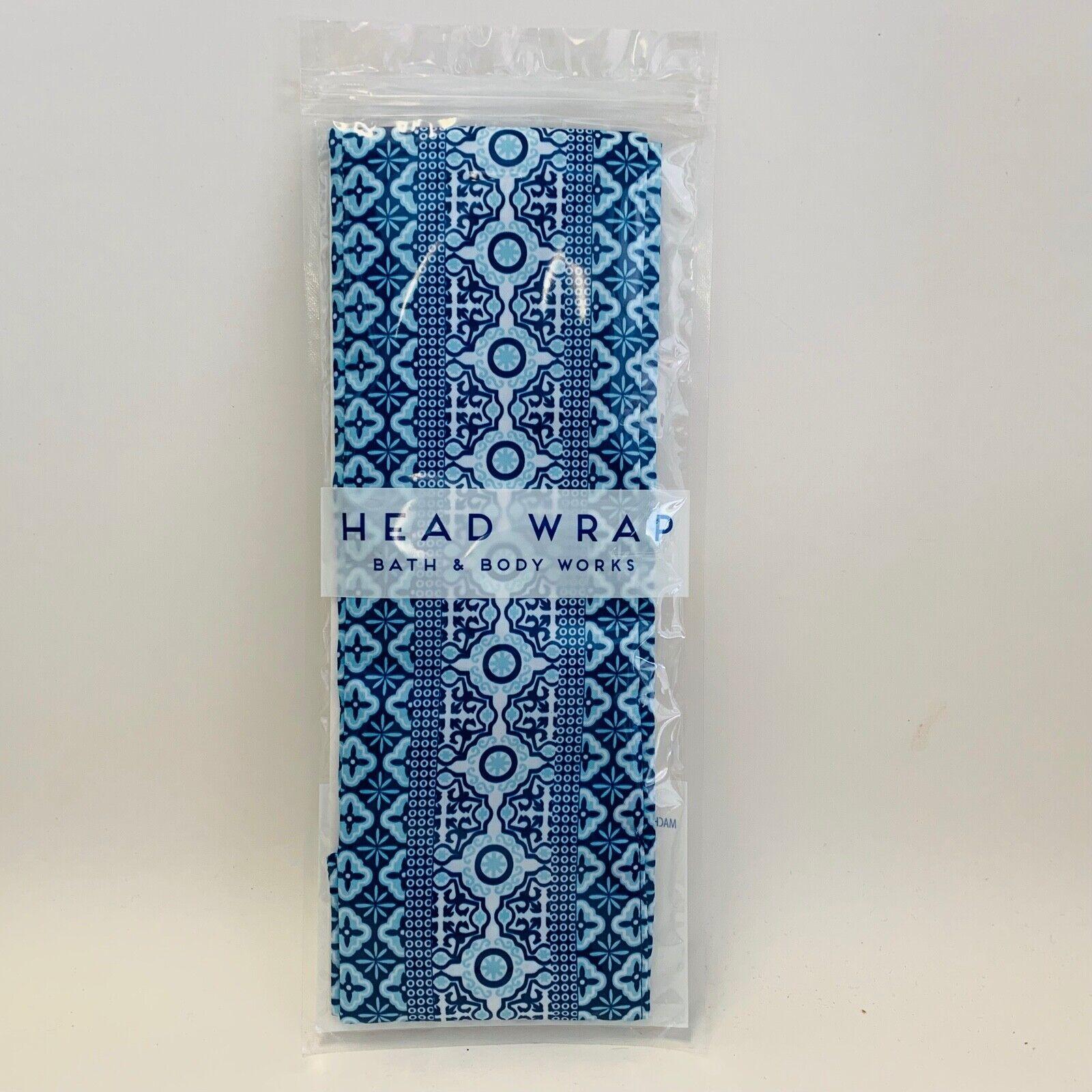 Bath /& Body Works Coastal Head Wrap Band Lightweight Blue Pattern Print One Size