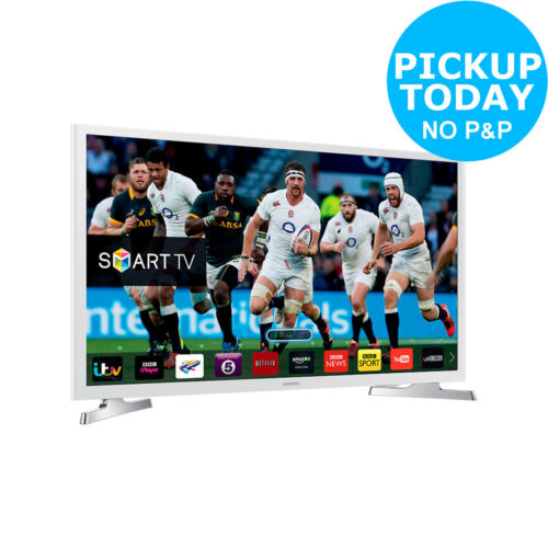 Samsung UE32J4510 32 Inch HD Ready 720p Freeview Smart WiFi LED TV White - Argos