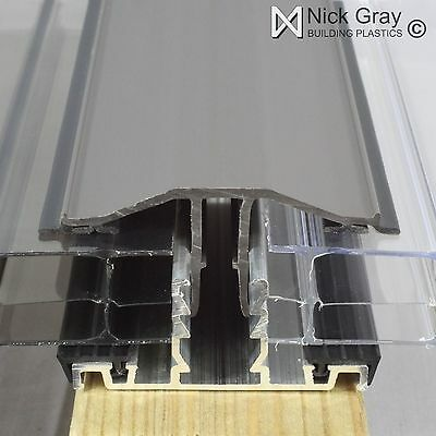 Snap Down Glazing Bar For Polycarbonate Roofing Sheets Various Sizes