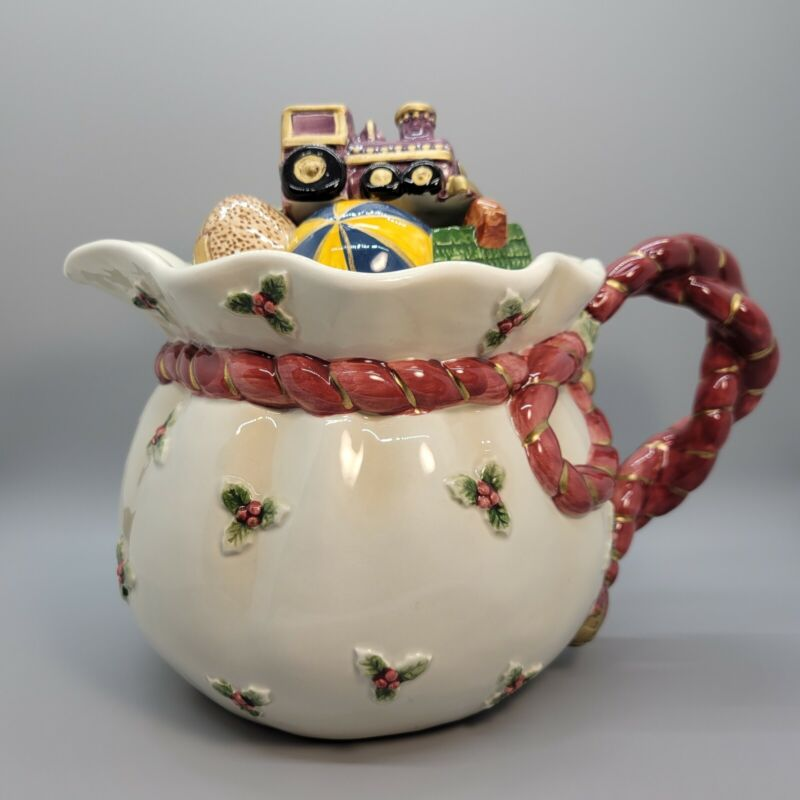"Fitz And Floyd ""Old World Santa"" Christmas Teapot 1994"