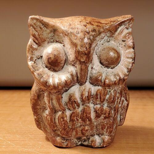 Owl Brown Resin Figurine