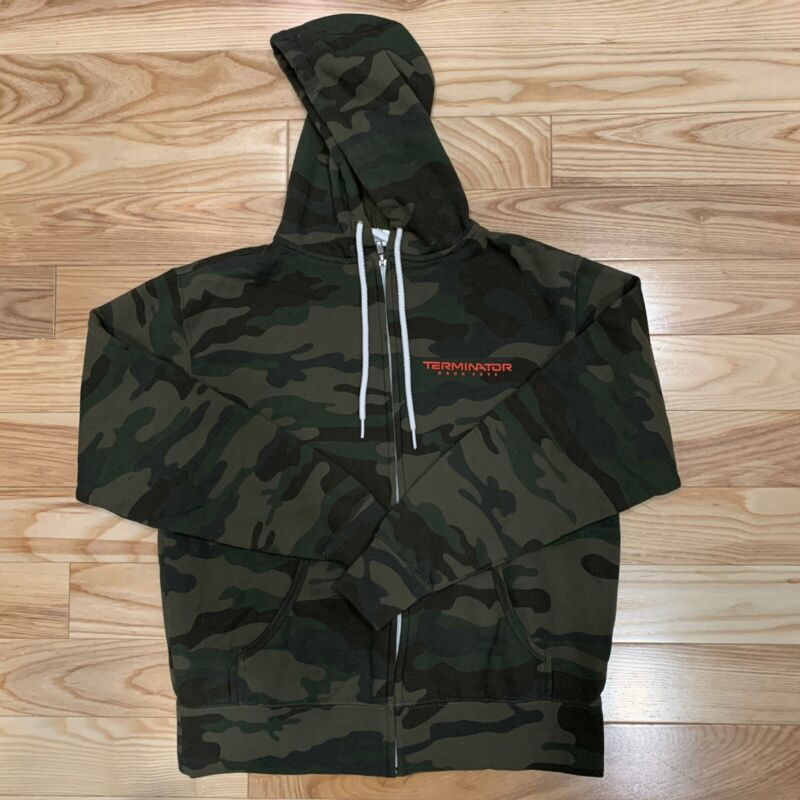 Terminator Dark Fate Promotional Hoodie Camouflage Size S Zip-up rare promo