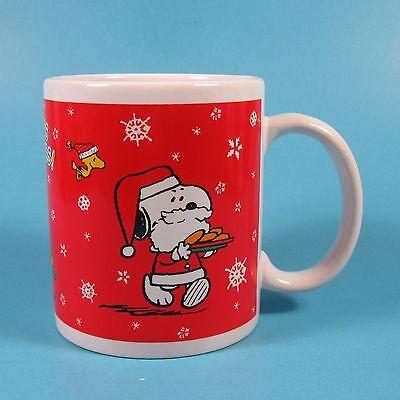 Galerie Peanuts Christmas Holiday Mug 1 Snoopy Woodstock Seasons Greetings