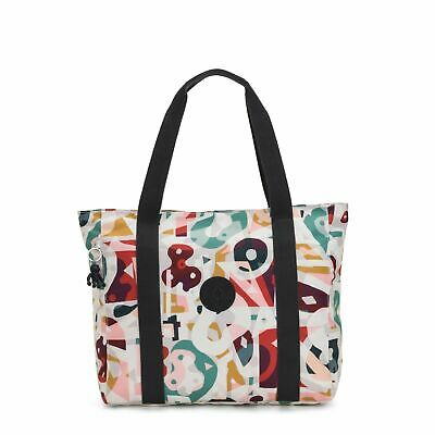 Kipling ASSENI Large Shoulder Tote Womens Bag Ladies, Music Print KI544452M