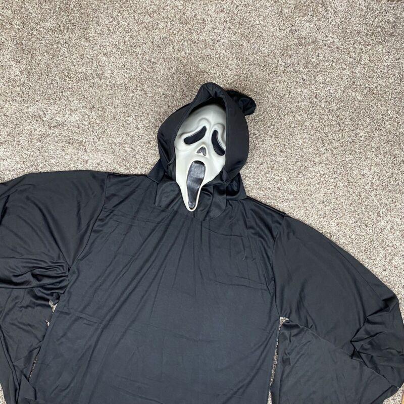 Vintage 90s SCREAM Ghost Face Mask Gen 2 Fun World Div w/ Robe Costume