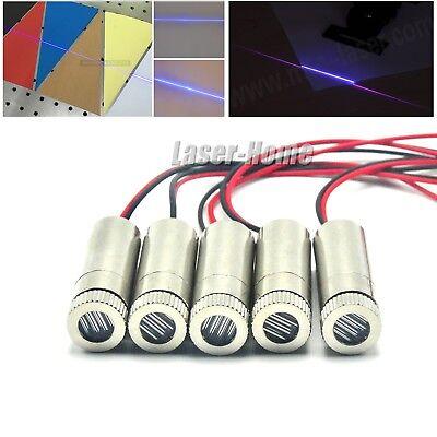 5pc 405nm 20mw Violetblue Focusable Line Laser Diode Module 35v Adjust 12x35mm