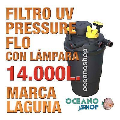 FILTRO PRESSURE FLO UV LAGUNA - 14000lts estanque peces jardín estanques calidad