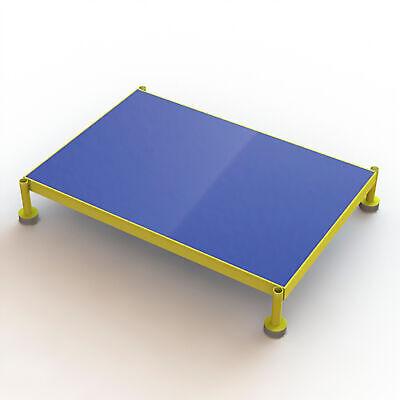 Steel Work Platform Wadjustable Height Yellow 36inlx24inwx9in-14inh 800lb Cap
